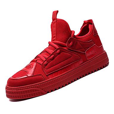 Men's Comfort Shoes PU(Polyurethane) / Fall Sneakers Gray / Red / PU(Polyurethane) Green 69a40a