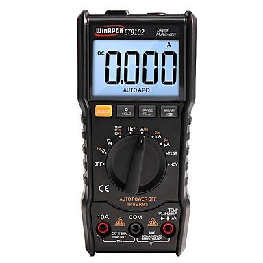 voordelige Test-, meet- & inspectieapparatuur-winapex et8102 digitaal display multifunctioneel bereik multimeter temp ncv dc ac spanning stroomweerstand diode true rms multimeter