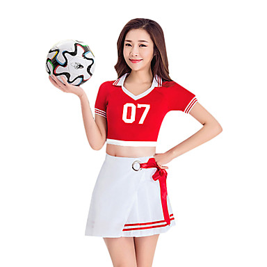2e3edcc62 Cheerleader Costumes Outfits Women's Performance Polyester Split Joint  Short Sleeve Dropped Skirts / Top