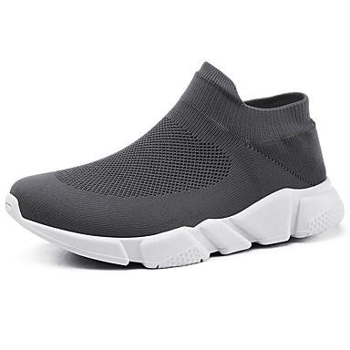 Men's Sneakers Comfort Shoes Mesh / Elastic Fabric Fall Casual Sneakers Men's Non-slipping Black / Gray e28b68