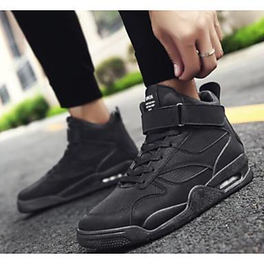 Homme Chaussures de confort Cuir Automne hiver Décontracté Décontracté hiver Chaussures d'Athlétisme Basketball Noir / Gris / Vert Véronèse d12e7a