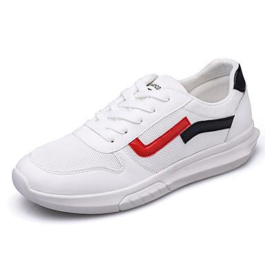 Men's Shoes Light Soles Mesh Fall Sporty Athletic Shoes Walking Shoes Men's Breathable White / Black 85b614