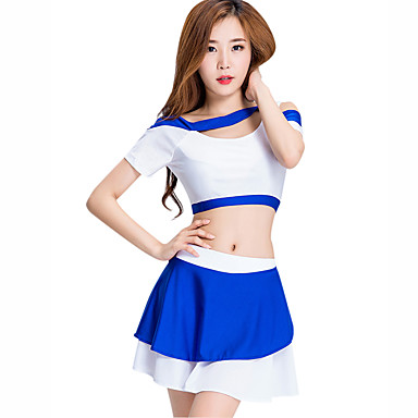 a6c07823d Cheerleader Costumes Outfits Women's Performance Spandex Split Joint Short  Sleeve Dropped Skirts / Top
