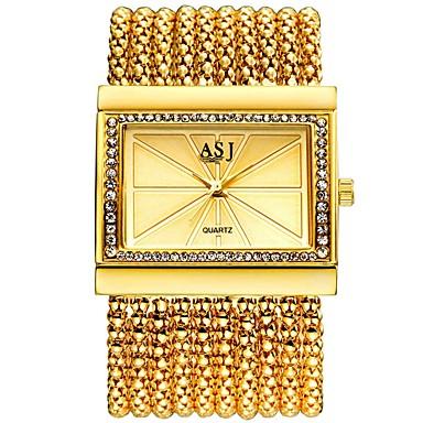 baratos Relógios Senhora-ASJ Mulheres Relógios Luxuosos Relógio Elegante Relógio de Pulso Japanês Quartzo Cobre Prata / Dourada 30 m Impermeável Novo Design Relógio Casual Analógico senhoras Luxo Fashion - Prata Dourado