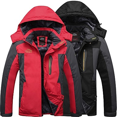 Men's Hiking Jacket Outdoor Windproof Rain Waterproof Quick Dry Breathability Autumn / Fall Winter Winter Jacket Hunting Fishing Camping / Hiking / Caving Army Green Red Blue XXXL 4XL 5XL
