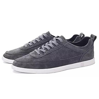 Men's Comfort Black Shoes PU(Polyurethane) Fall Sneakers Black Comfort / Dark Grey / Blue 124c0b