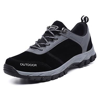 Erkek Ayakkabı PU Sonbahar Günlük Atletik Ayakkabılar Dağ Yürüyüşü Dış mekan için Siyah / Gri
