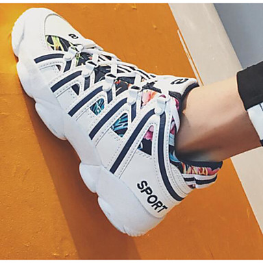 Men's Comfort Shoes PU(Polyurethane) Spring Casual Athletic Shoes White Running Shoes Black and White Shoes / Pink / White / White / Blue e52ef5
