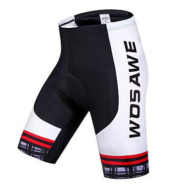 WOSAWE Damen / Unisex Gepolsterte Fahrradshorts Fahhrad Shorts / Laufshorts / Gepolsterte Shorts / Unten 3D Pad, Rasche Trocknung,