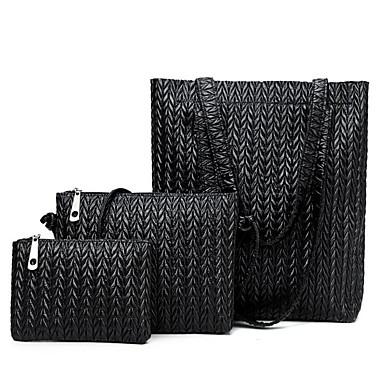 povoljno Današnji popust-Žene Patent-zatvarač Bag Setovi Kompleti za vrećice PU 3 kom Crn / Braon / Žutomrk