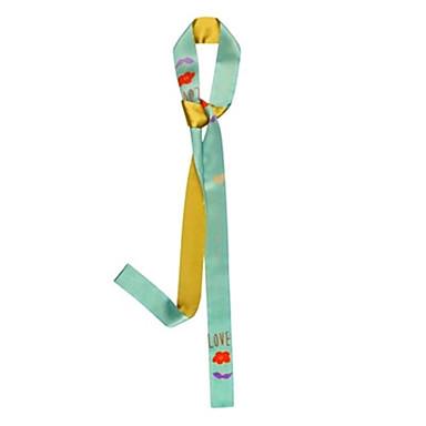 Colto Seta Sciarpa - Fiocco Per Donna Quotidiano Verde #06953369 Brividi E Dolori