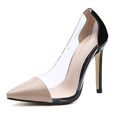 558f4850927 Women s Pumps PU(Polyurethane) Spring   Fall Minimalism Heels Stiletto Heel  Pointed Toe Black   Almond   Color Block   Daily 6987269 2019 –  29.99