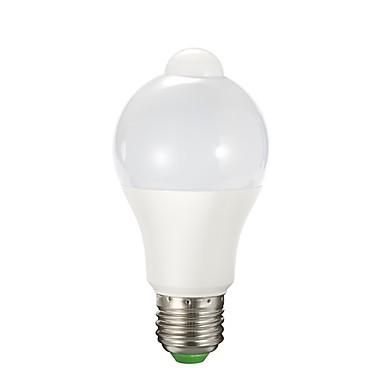 abordables Ampoules électriques-1pc 9 W Ampoules LED Intelligentes 850 lm E26 / E27 A60(A19) 12 Perles LED SMD 2835 Capteur infrarouge Blanc Chaud Blanc 90-240 V