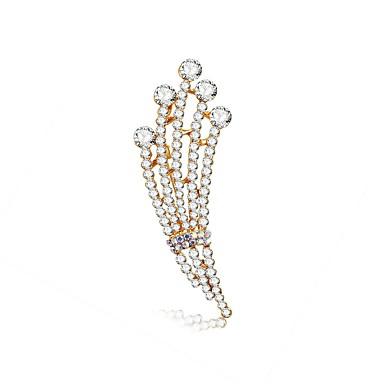 voordelige Dames Sieraden-Dames Diamant Broches Klassiek Dames Europees Romantisch Zoet Broche Sieraden Zilver Voor Verloving Ceremonie