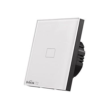 abordables Interrupteur Connecté-BroadLink Interrupteur intelligent TC2 1gang-EU pour Salon / Étude / Chambre Contrôle de l'APP / Contrôle WIFI / intelligent 170-240 V