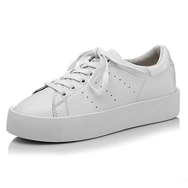 Femme Chaussures de confort Cuir Nappa Nappa Nappa Printemps Basket Talon Plat Bout fermé Blanc | Magasiner  e4a3cb