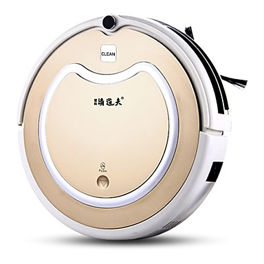cheap Smart Robots-DengKe QingDaofu Robotic Vacuums Cleaner DK01 Self Recharging Timing Function Anti-collision System Remote Automatic cleaning Spot Cleaning Edge Cleaning / Remote Controlled / Wet and Dry Mopping