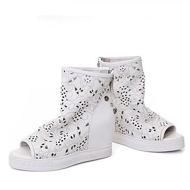 Femme Chaussures de confort Daim / Cuir Nappa Eté Ballerines Ballerines Ballerines Talon Plat Blanc / Beige / Gris   Attrayant Et Durable  d7352f
