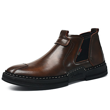 e8231225b4 Ανδρικά Παπούτσια άνεσης Δέρμα   Δερμάτινο Φθινόπωρο   Χειμώνας Κλασσικό  Μπότες Μποτίνια Μαύρο   Καφέ