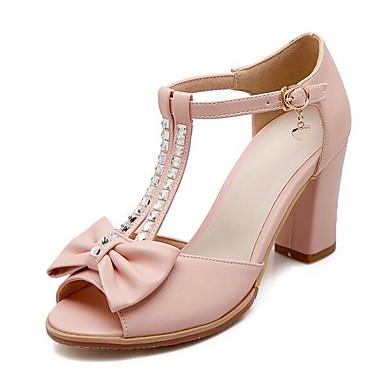 magasin phare | | | Femme Chaussures de confort Polyuréthane Eté  s Talon Bottier Blanc / Bleu / Rose 054ec7