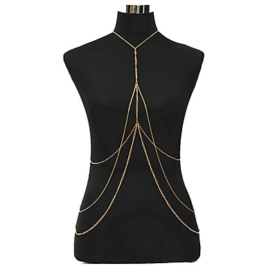 Žene Nakit za tijelo 79 cm Tijelo Chain / Belly Chain Zlato dame / Boemski stil / Vjenčanje Legura Nakit odjeće Za Klub / Bikini Ljeto