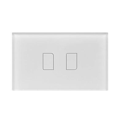 BroadLink Smart prekidač TC2 2gang-US za Dnevna soba / Studija / Spavaća soba APP kontrola / WIFI kontrolu / inteligentan 110-150 V