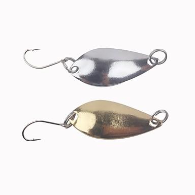 10 pcs Metal Bait Csali Tvrdi Mamac Jednostavan za nošenje Svjetlo i praktično Sinking Bass Pastrva Štuka Morski ribolov Mamac Casting Vrtložno Metalic Krom / Šaran ribolov / Bas ribolov