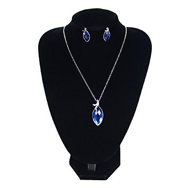 Žene Plav Viseće naušnice Choker oglice Retro Francuski Naušnice Jewelry Pink Za Formalan Festival 1set