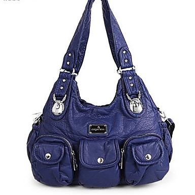 preiswerte Taschen-Damen Reißverschluss Umhängetasche PU Grau / Purpur / Khaki
