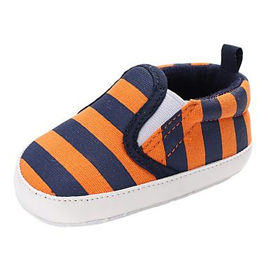voordelige Babyschoenentjes-Jongens / Meisjes Comfortabel / Eerste schoentjes Canvas Laarzen Peuter (9m-4ys) Elastiek Oranje / Blauw Lente & Herfst / Winter