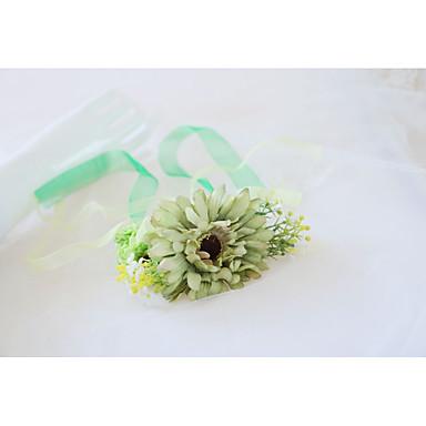 Cvijeće za vjenčanje Wrist Corsage Vjenčanje / Svadba Svila / Platno 0-10 cm