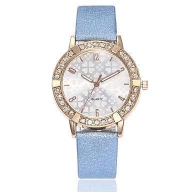 Mujer Reloj de Vestir Reloj de Pulsera Cuarzo Cuero Sintético Acolchado  Negro   Blanco   Azul Nuevo diseño Reloj Casual Analógico damas Casual  Minimalista ... d19baf4aaa81