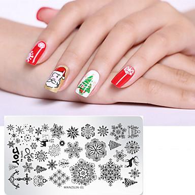 1 Pcs Strumenti Per Unghie Fai Da Te Modello Serie Di Cartoni Animati Riciclabile Manicure Manicure Pedicure Alla Moda Natale #06974516