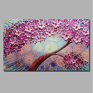 billige Trykk-Trykk Strukket Lerret Trykk - Halloween Blomstret / Botanisk Klassisk Moderne Kunsttrykk