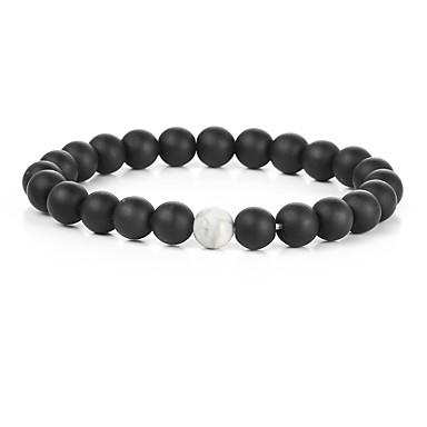 voordelige Armband-Dames Klassiek Kralenarmband Dames Modieus Birthstones Geboortestenen Armbanden Sieraden Wit / Zwart Voor Feest Festival
