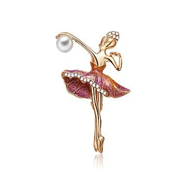 Žene Slatkovodni biser Broševi Skulptura Kreativan dame Umjetnički Jedinstven dizajn Vjenčanje Broš Jewelry Zlato Za Dar Maškare