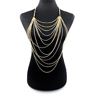 voordelige Dames Sieraden-Dames Lichaamssieraden 77 cm Body Chain / Belly Chain Goud Dames / Tropisch / Oversized Legering Kostuum juwelen Voor Club / Bikini Zomer