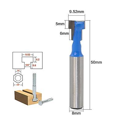 voordelige Handgereedschap-Gutmax 1 st 8mm schacht t-slot lock cutter router bit hout frees houtbewerking boor tool voor trim router ht29