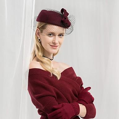 100% vuna Kentucky Derby Hat / kape s Mašnica 1pc Kauzalni / Dnevni Nosite Glava