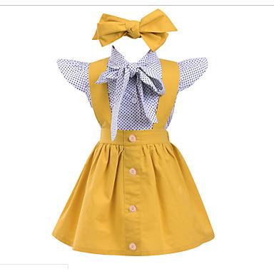 cheap Girls  039  Dresses-Toddler Girls  039  Sweet Geometric Sleeveless  Dress dcacf49e8a53
