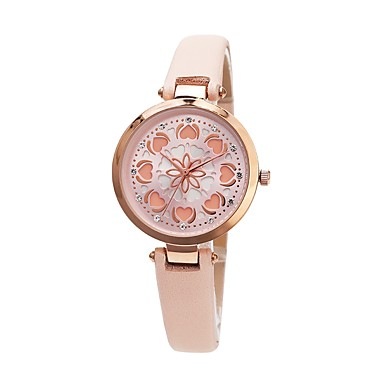 090af3412bf7a رخيصةأون ساعات النساء-نسائي ساعة فستان ياباني كوارتز ياباني جلد اصطناعي  الأبيض   الوردي