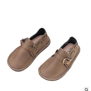 voordelige Babyschoenentjes-Meisjes Comfortabel Leer Platte schoenen Peuter (9m-4ys) / Little Kids (4-7ys) Zwart / Bruin Lente zomer