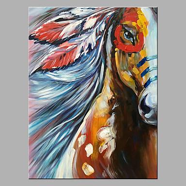 Hang oslikana uljanim bojama Ručno oslikana - Sažetak Pop art Klasik Moderna Bez unutrašnje Frame / Valjani platno