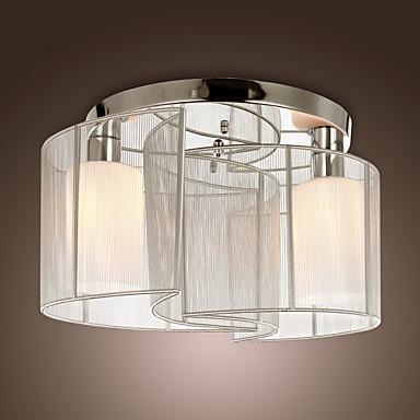 Lightinthebox Montagem do Fluxo Luz Ambiente Cromado Metal Tecido Estilo Mini 110V / 110-120V / 220-240V Lâmpada Não Incluída / E26 / E27
