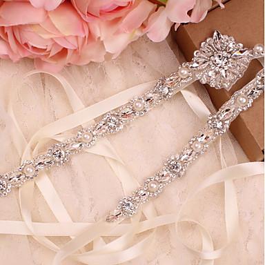 Saten / til Vjenčanje / Special Occasion Pojas S Kristal / Faux Pearl / Kristali / Rhinestones Žene Pojasi