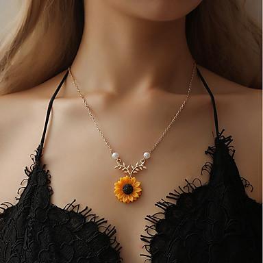 Žene Ogrlice s privjeskom Klasičan Cvijet dame slatko Imitacija bisera Legura Zlato Pink 51+5 cm Ogrlice Jewelry 1pc Za Dnevno
