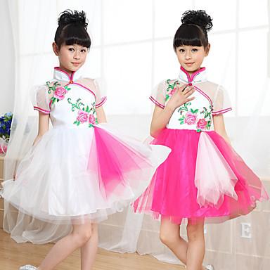 Balet Haljine Djevojčice Trening / Seksi blagdanski kostimi Najlon Kombinacija materijala Kratkih rukava Haljina