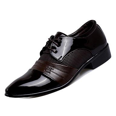 2019 Nuovo Stile Per Uomo Scarpe Comfort Pu (poliuretano) Autunno Lavoro Oxfords Traspirante Nero - Marrone #07031725
