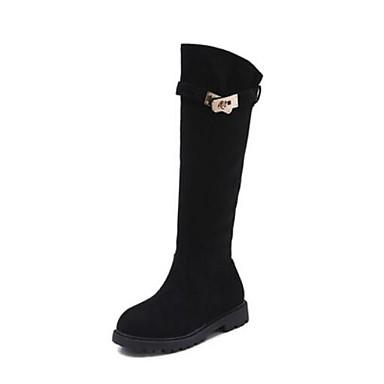 e0a498c13cdd3 للفتيات أحذية المواد التركيبية الشتاء الأحذية ترهل كتب سحاب إلى أطفال    مراهق أسود   جزمات طول الركبة