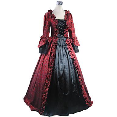 c9f3c373f306 Rococo Victorian 18ος αιώνας Στολές Γυναικεία Φορέματα Κοστούμι πάρτι Χορός  μεταμφιεσμένων Πεπαλαιωμένο Cosplay Δαντέλα Μακρυμάνικο Μακρύ Μήκος Βραδινή  ...